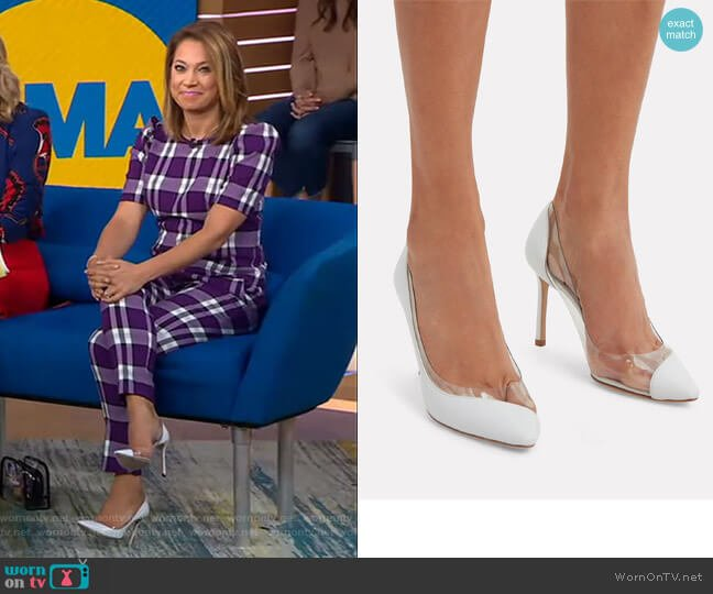 Romy PVC Pumps by Jimmy Choo  worn by Ginger Zee  on Good Morning America