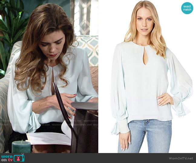 Joie Abekwa Top worn by Victoria Newman (Amelia Heinle) on The Young & the Restless