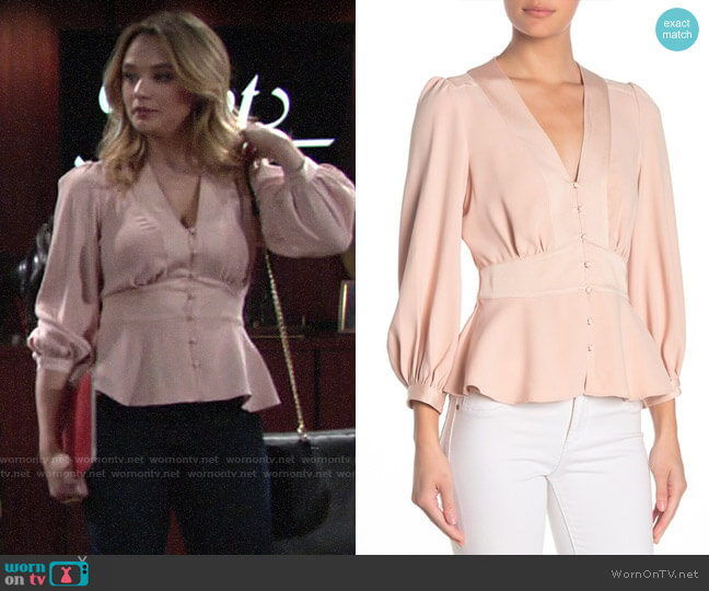 Joie Monisha Top worn by Summer Newman (Hunter King) on The Young & the Restless