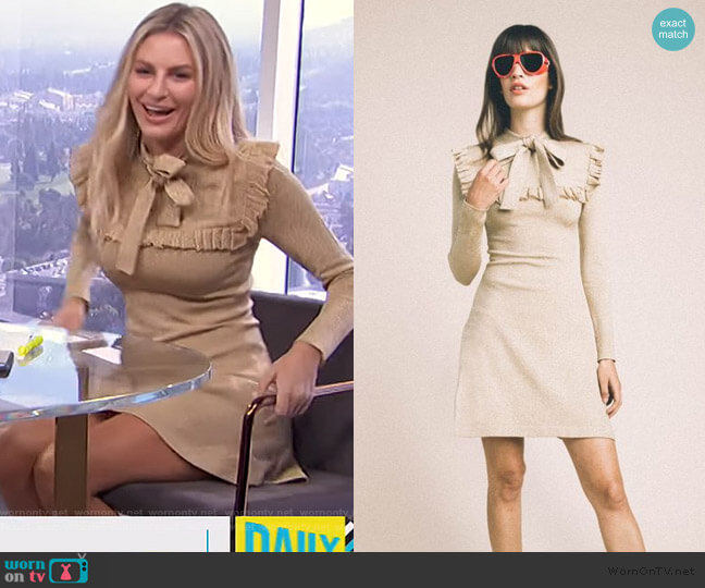 Ruffle Stretch Knit Dress by Joostricot worn by Morgan Stewart  on E! News