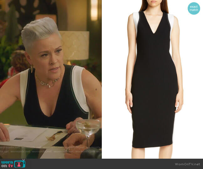 Avellino Sheath Dress by Judith & Charles worn by Christine Elise  on BH90210