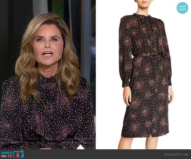 Disco Dots Long Sleeve Midi Dress by Kate Spade worn by Maria Shriver  on Today