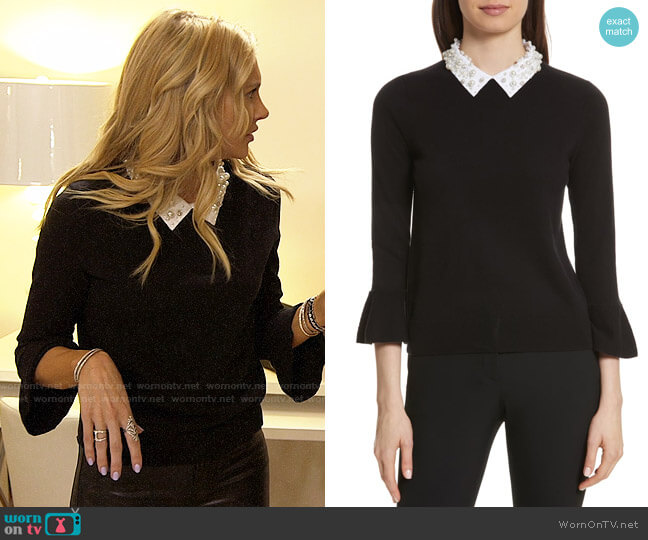 Kate Spade Embellished Collar Sweater worn by Stephanie Pratt  on The Hills New Beginnings