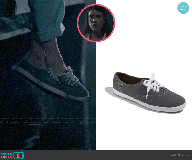Keds Champion Sneakers in Graphite Canvas worn by Brooke Thompson (Emma Roberts) on American Horror Story