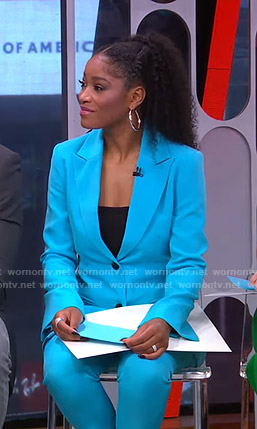 Keke's blue suit on GMA Strahan Sara And Keke