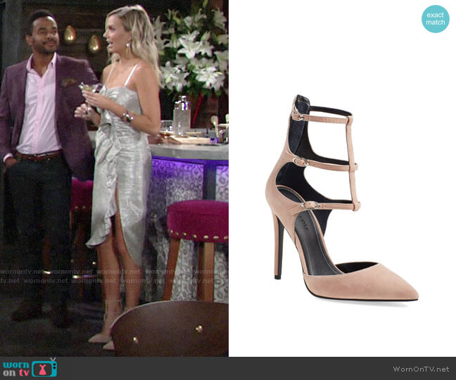 Kendall + Kylie Alisha Tiered Ankle Strap Pump worn by Abby Newman (Melissa Ordway) on The Young & the Restless