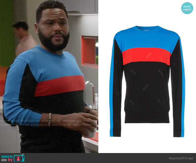 Kenzo Block Colour Striped Sweater worn by Andre Johnson (Anthony Anderson) on Blackish