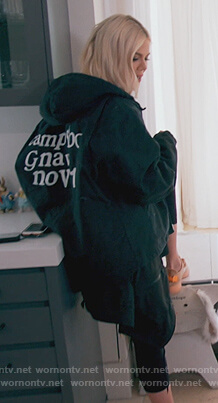 Khloe's black Kids See Ghosts jacket on Keeping Up with the Kardashians