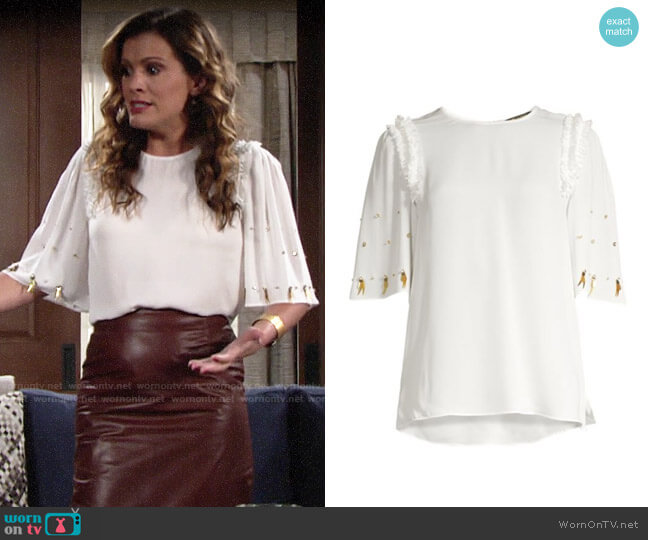 Kobi Halperin Krissy Top worn by Chelsea Lawson (Melissa Claire Egan) on The Young & the Restless