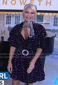 Kristin Chenoweth's metallic heart print dress on Today
