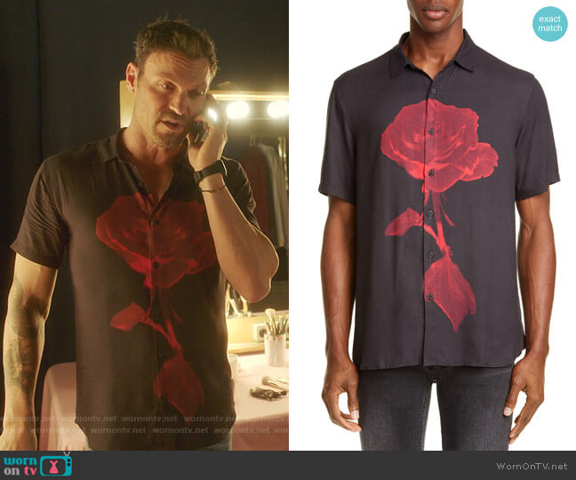 No Daisy Short Sleeve Button-Up Shirt by Ksubi worn by Brian Austin Green  on BH90210