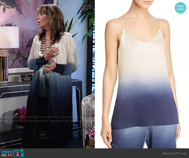 Lafayette 148 NY Eva Dip-Dyed Silk Camisole Top worn by Jill Abbott (Jess Walton) on The Young & the Restless