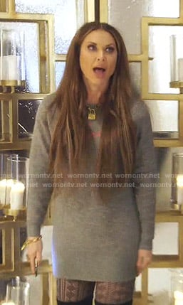 LeeAnne's grey sweater dress on The Real Housewives of Dallas