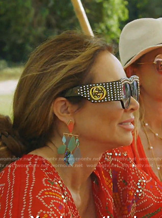 LeeAnne's Gucci embellished sunglasses on The Real Housewives of Dallas