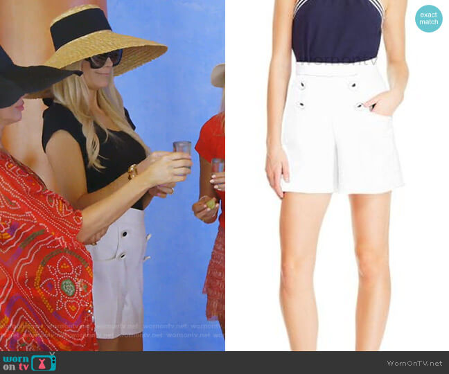Stretch Canvas Shorts by Lela Rose worn by Kameron Westcott  on The Real Housewives of Dallas