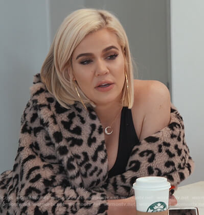 Khloe's leopard fur coat on Keeping Up with the Kardashians