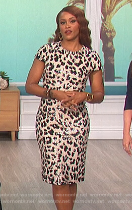 Eve's sequin leopard dress on The Talk