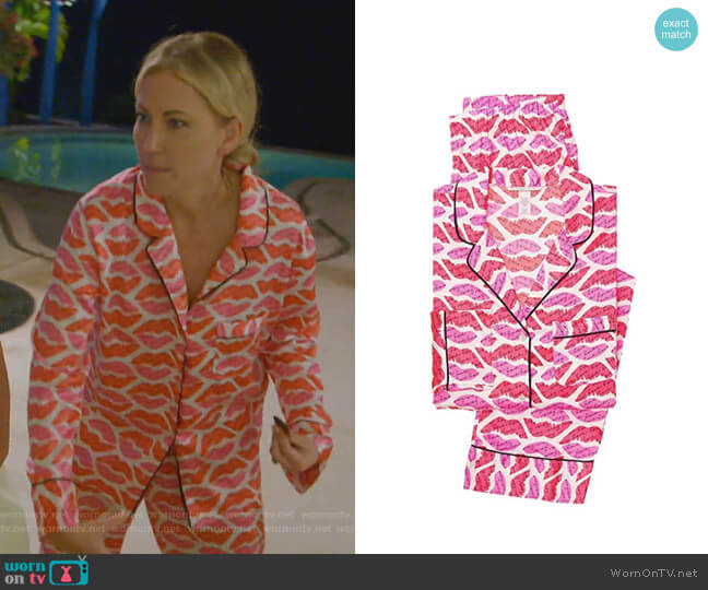 The Afterhours Satin Pajama Set by Victoria's Secret worn by Stephanie Hollman  on The Real Housewives of Dallas