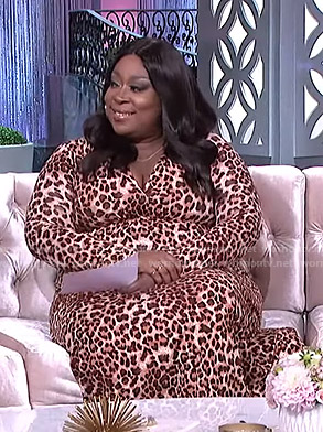 Loni's leopard print maxi dress on The Real