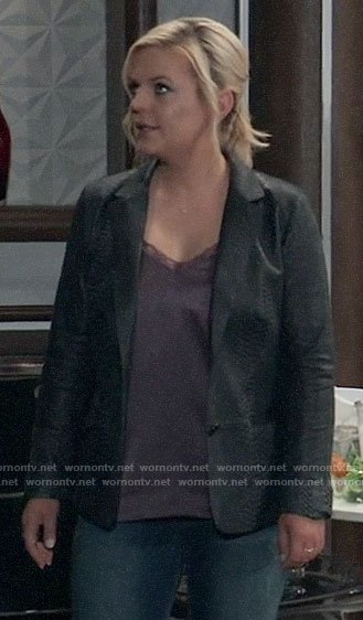 Maxie's leather blazer on General Hospital