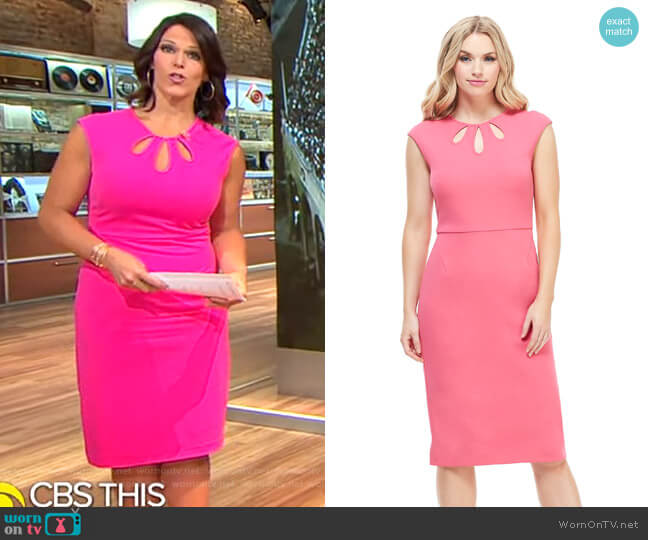 Alyssa Midi Dress by Maggy London worn by Dana Jacobson  on CBS This Morning