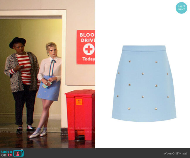 Maje Bee Embellished Skirt worn by Astrid (Lucy Boynton) on The Politician