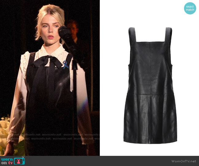 Maje Leather Mini Dress worn by Astrid (Lucy Boynton) on The Politician
