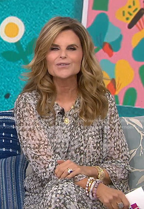 Maria Shriver's floral print midi dress on Today