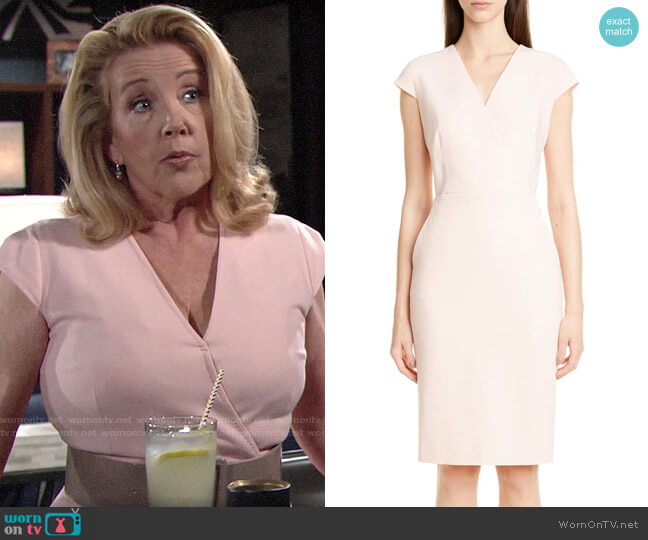 Max Mara Bill Dress worn by Nikki Reed Newman (Melody Thomas-Scott) on The Young & the Restless