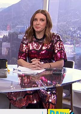 Melanie's sequin midi dress on E! News Daily Pop