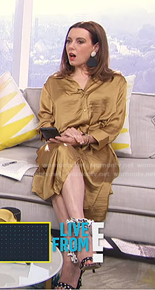 Melanie's yellow shirtdress on Live from E!