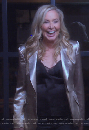 Shannon's metallic blazer on The Real Housewives of Orange County