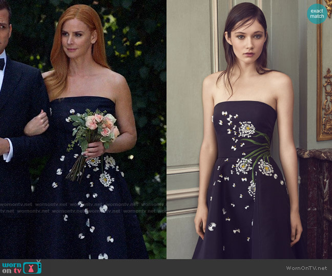Monique Lhuillier Spring 2019 Collection Dress worn by Donna Paulsen (Sarah Rafferty) on Suits