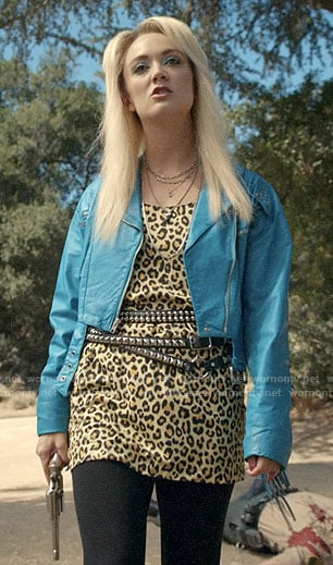 Montana's mini leopard dress on AHS1984