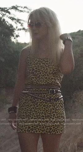 Montana's mini leopard dress on AHS1984