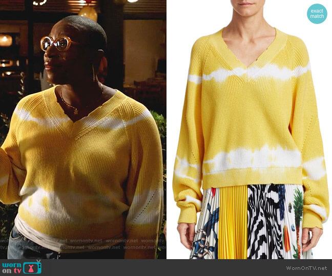 V-Neck Tie-Dye Knit Sweater by MSGM worn by Henrietta Wilson (Aisha Hinds) on 9-1-1