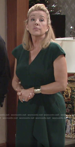 Nikki's green belted dress on The Young and the Restless