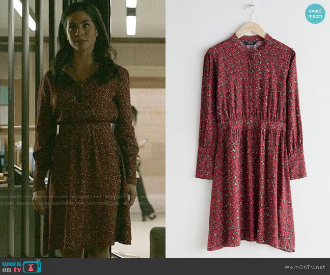 & Other Stories Button Up Printed Dress worn by Yoli Castillo (Isabel Arraiza) on Pearson
