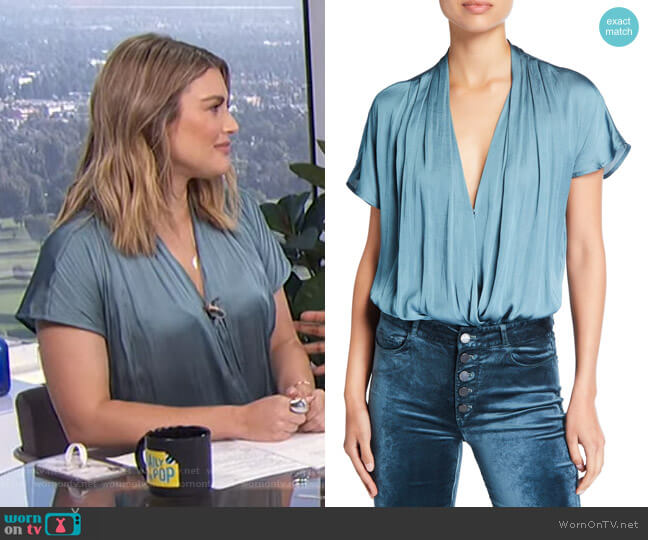 Dijon Shirred Bodysuit by Paige worn by Carissa Loethen Culiner  on E! News