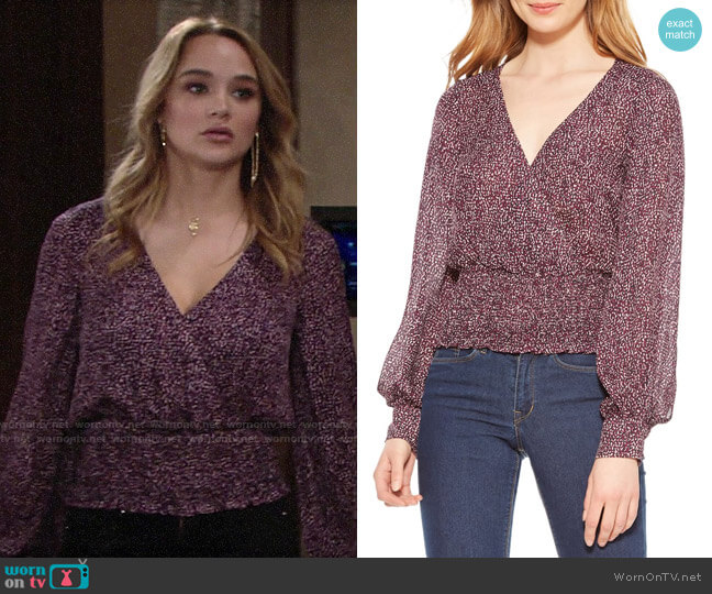 Parker Matilda Top worn by Summer Newman (Hunter King) on The Young & the Restless