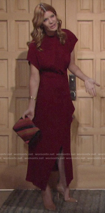 Phyllis's red maxi dress on The Young and the Restless