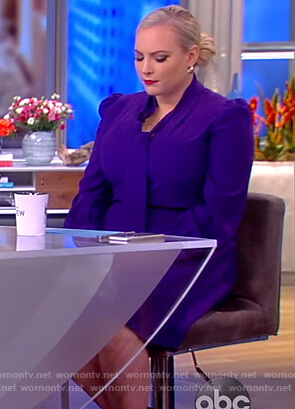Meghan's Purple tie neck dress on The View