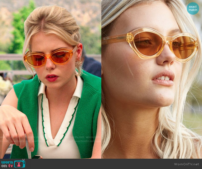Quay Australia As If Sunglasses worn by Astrid (Lucy Boynton) on The Politician