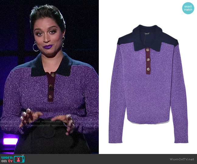Rachel Comey Collins Top worn by Lilly Singh  on A Little Late with Lilly Singh