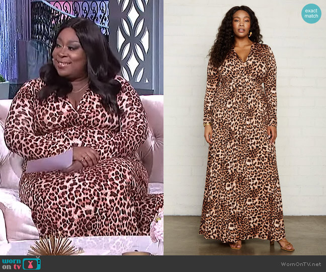 Plus Size Long Sleeve Full Length Caftan by Rachel Pally worn by Loni Love  on The Real