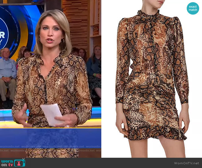 Rackel Dress by Ba&Sh worn by Amy Robach  on Good Morning America