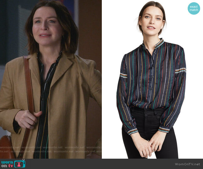 Austin Shirt by Rag & Bone worn by Amelia Shepherd (Caterina Scorsone) on Greys Anatomy