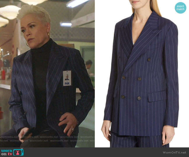 Pinstripe Blazer by Ralph Lauren worn by Christine Elise  on BH90210