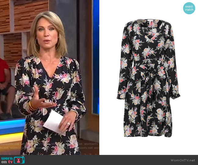 Floral Dress by Rebecca Taylor worn by Amy Robach  on Good Morning America