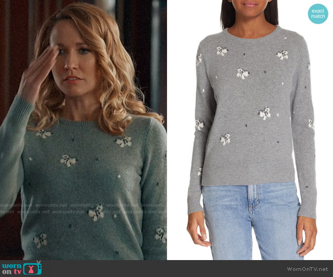 La Vie Rebecca Taylor Butterfly Wool Blend Sweater worn by Ginny (Anna Camp) on Perfect Harmony